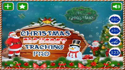 Screenshot #1 pour Alphabet Tracing Cursive & Numbers Christmas Game