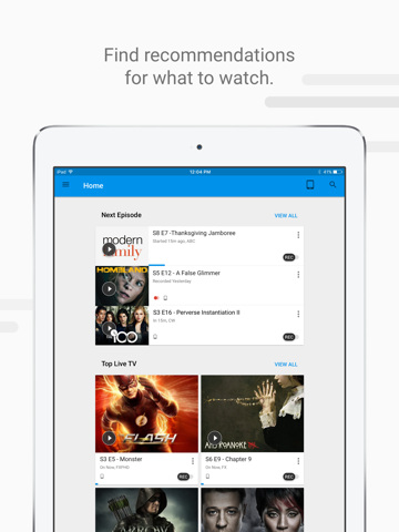 Screenshot of Fiber TV