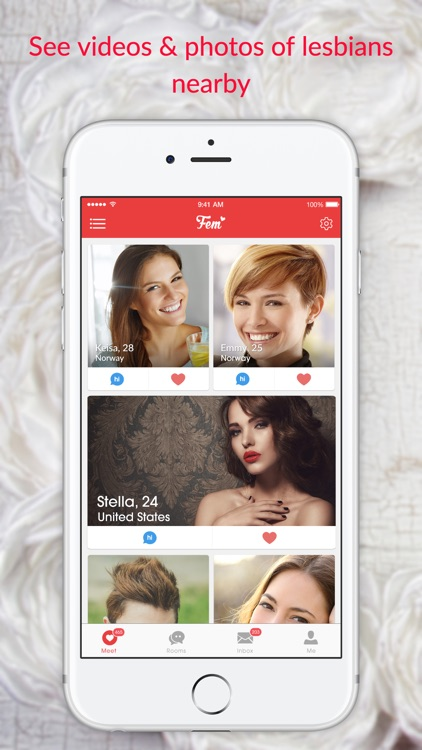 FEM - Lesbian Dating App for Single Ladies
