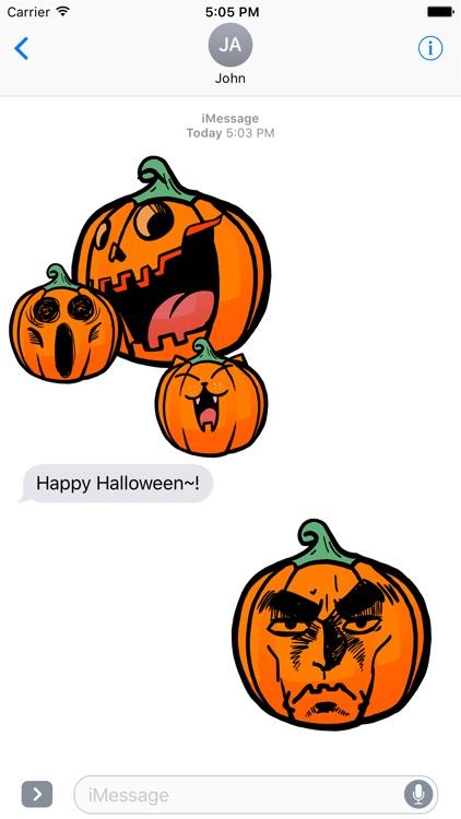Funny Halloween Pumpkin Sticker