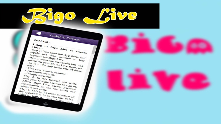 Guide for Bigo Live