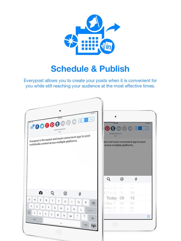 Everypost for Twitter, Facebook & Social Media Scheduling screenshot
