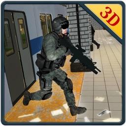 3D Subway Terrorist Attack & Army Shooter Games