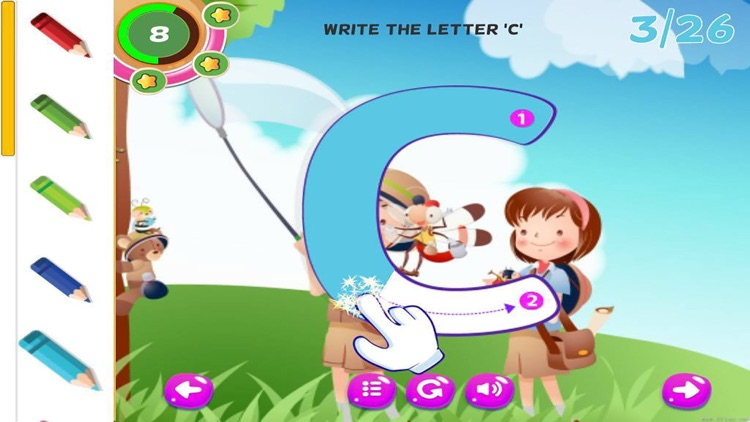 ABC Tracing Handwriting Learn to Write Letters screenshot-3