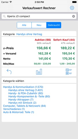 Verkaufswert Rechner App Itunes Deutschland Chartoo