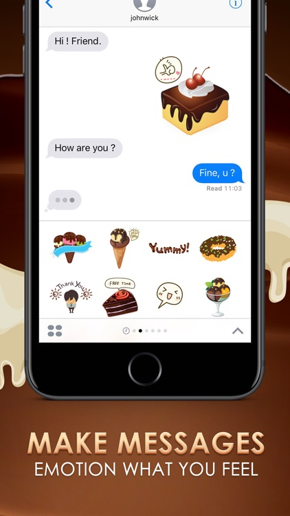 Chocolate Emoji Stickers Keyboard Themes ChatStick