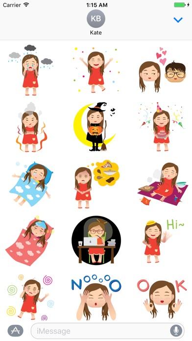 Hana the moody girl app image