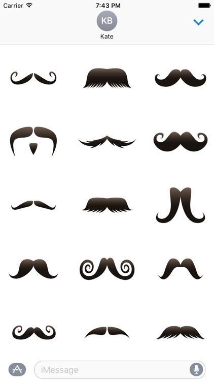 Moustache Photobomb Stickers for November
