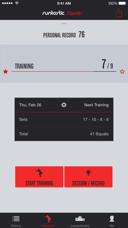 Runtastic Squats Trainer PRO screenshot-0