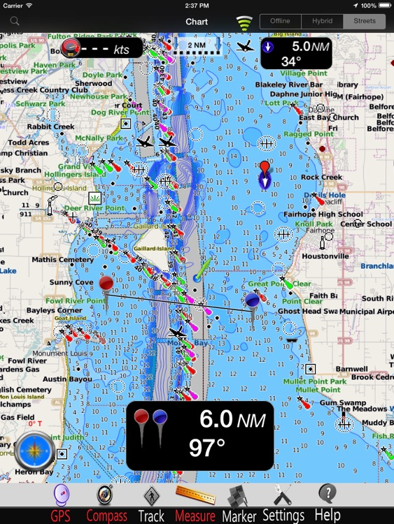 Alabama GPS Nautical Chart Pro screenshot-0