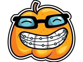 Smiley Pumpkin Stickers