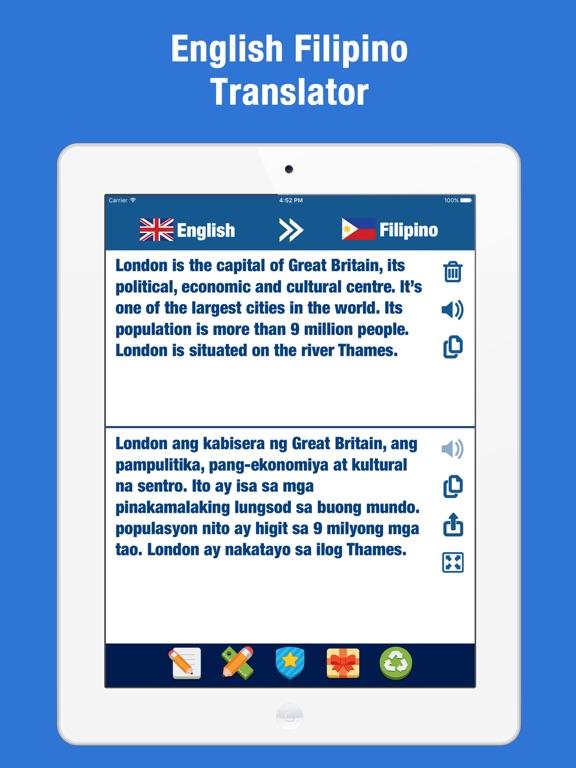 English Filipino Translator - Tagalog Dictionary   App Price
