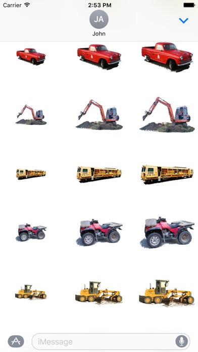 Car Truck Digger Stickersのスクリーンショット4