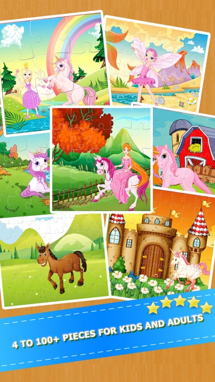 My little Horse Pony Jigsaw Puzzles Game for Girls screenshot-1