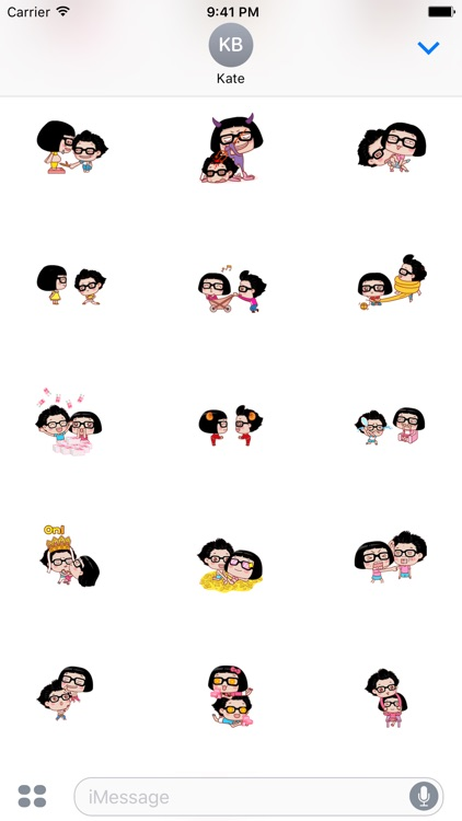 Couple Hana - I love you animated stickers pack