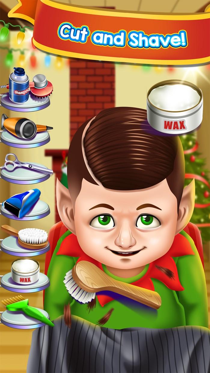 Christmas Shave Salon Kids Games (Boys & Girls) Screenshot