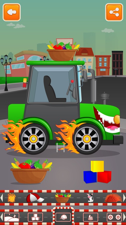 Little Tractor Builder Factory and Build Trucks for Kids screenshot-3