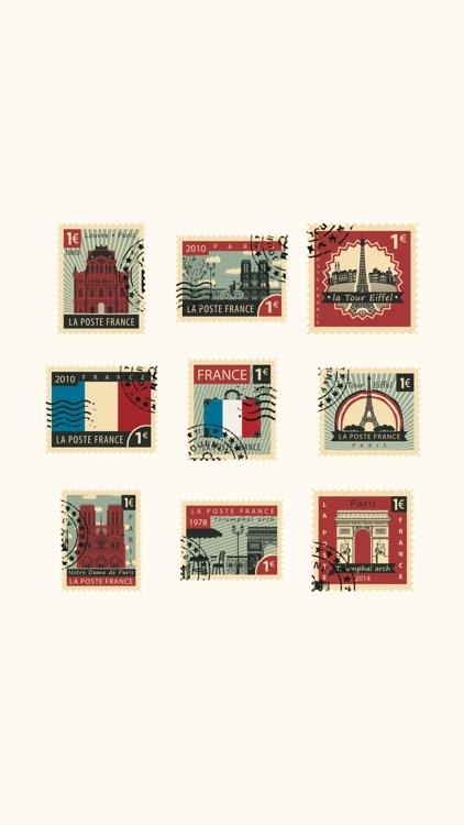 Stamps Paris Stickers