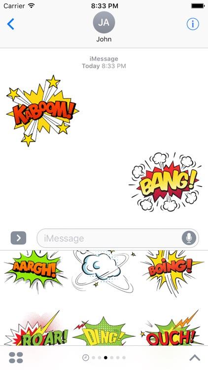 Comic Talk Sticker Pack 02