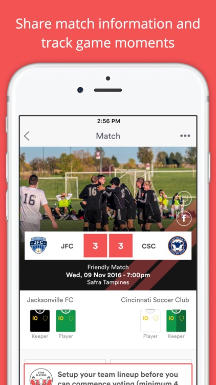 Gameday - Social App for Football Teams