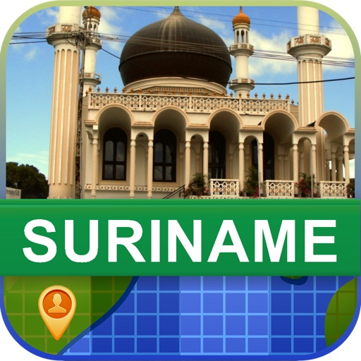 Offline Suriname Map - World Offline Maps