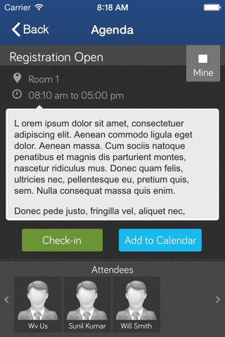 Screenshot of MyEvents2Go™