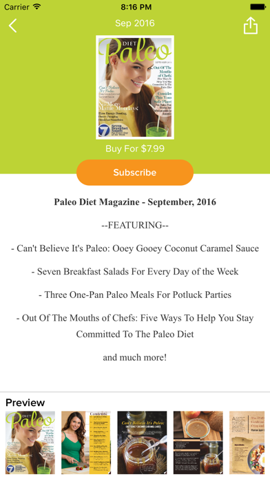 Paleo Diet Magazine review screenshots