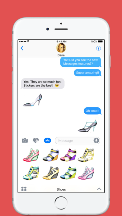 Shoes stickers by Weds for iMessage screenshot one