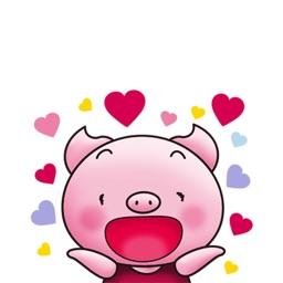 Pinky Pig Stickers - Funny Piglet Emoji
