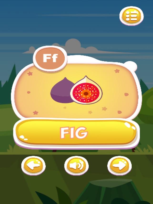 ABC Fruit Names Learning