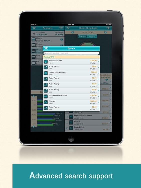 Quick Checkbook Pro for iPad screenshot-3