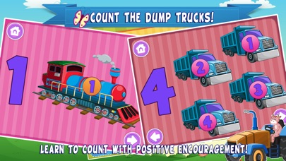 Trucks World Count and Touch- Toddler Counting 123 for Kids screenshot three
