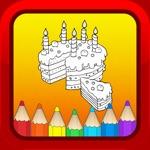 生日蛋糕儿童卡通着色图书宝贝