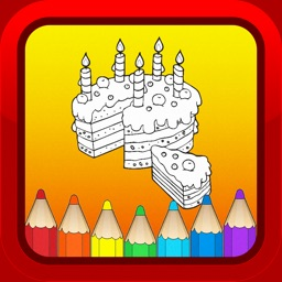 Birthday Cake Cartoon Kids Coloring Books for Baby