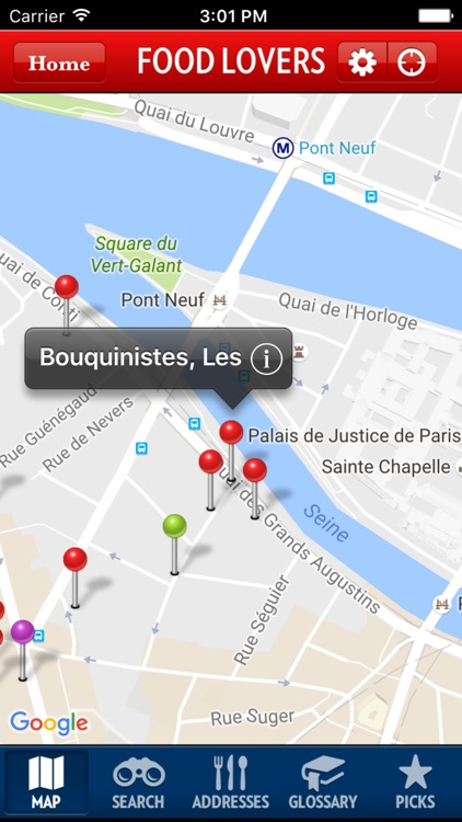 The New Food Lover's Guide to Paris app image