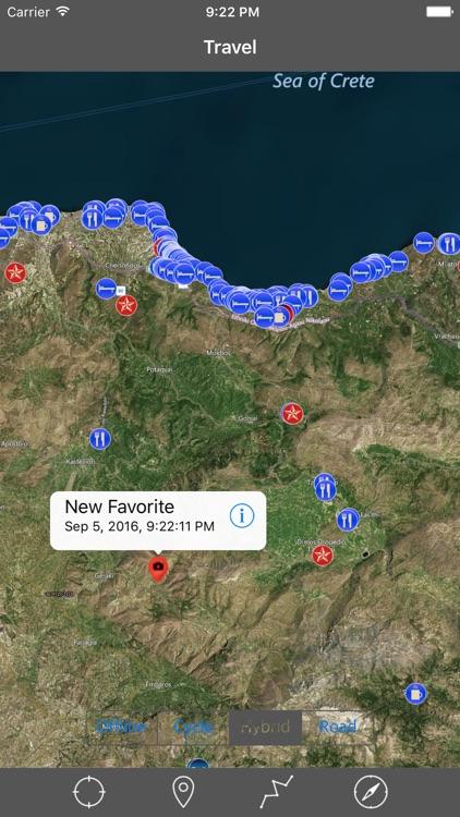 Crete Greece Gps Travel Map Offline Navigator By Vishwam B