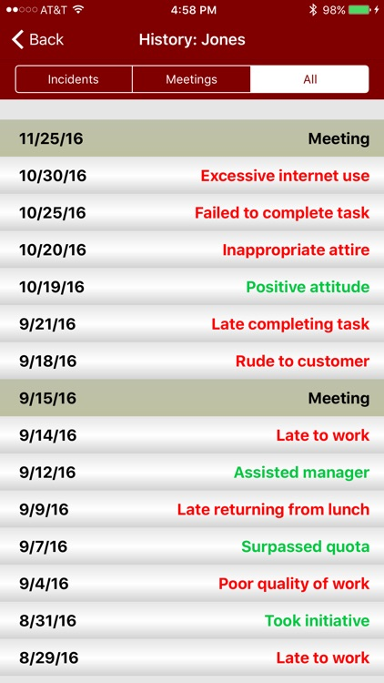 Employee Manager: Goal and Incident Tracking screenshot-3