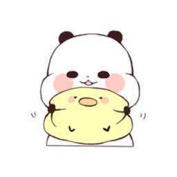 Panda And Friend Sticker