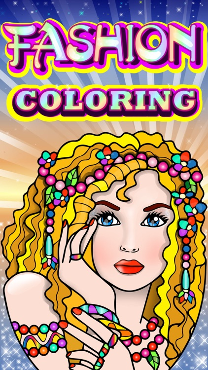 Fashion Coloring Book for Adults with Girls Games