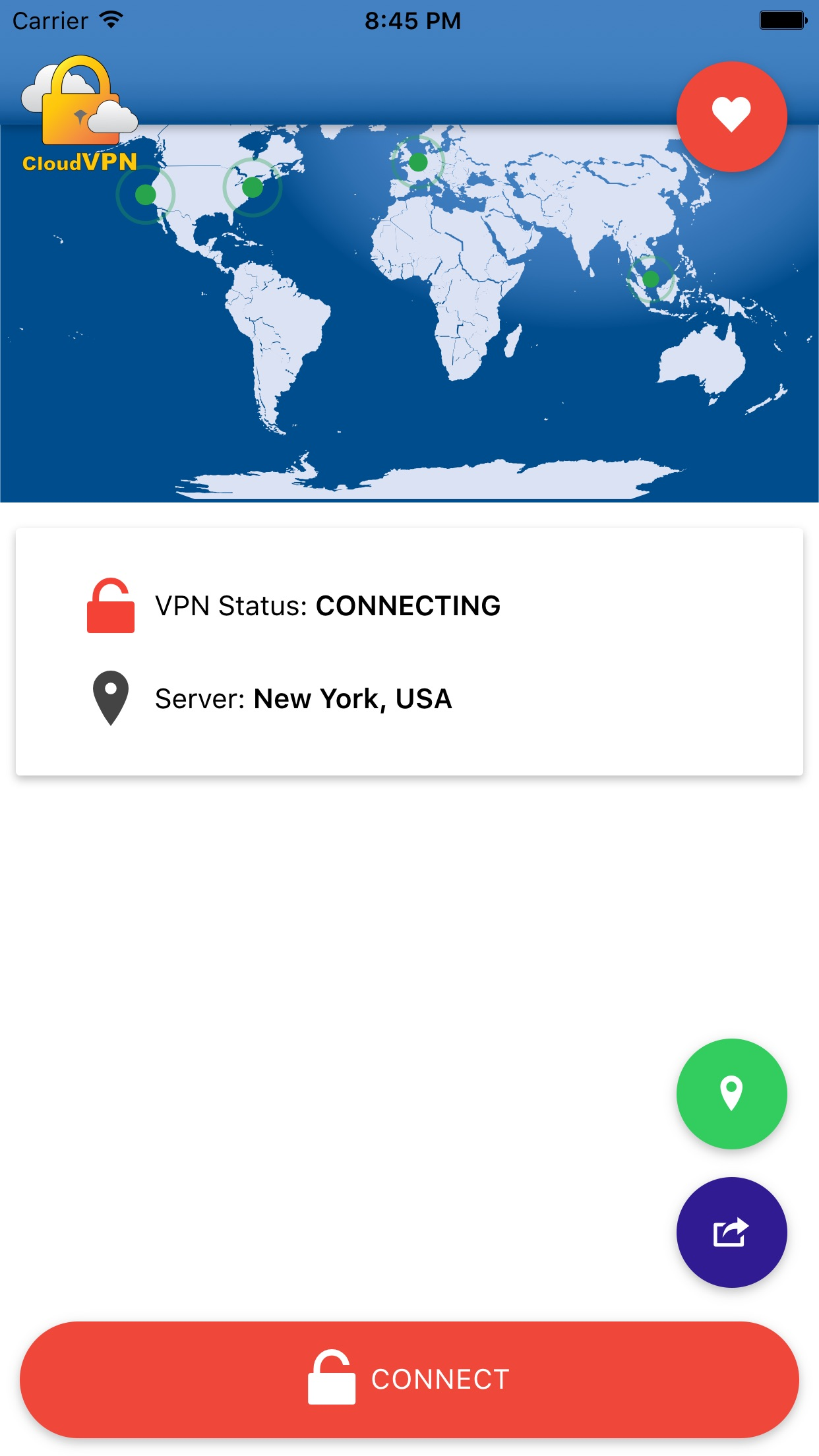 Cloud VPN : FREE Screenshot