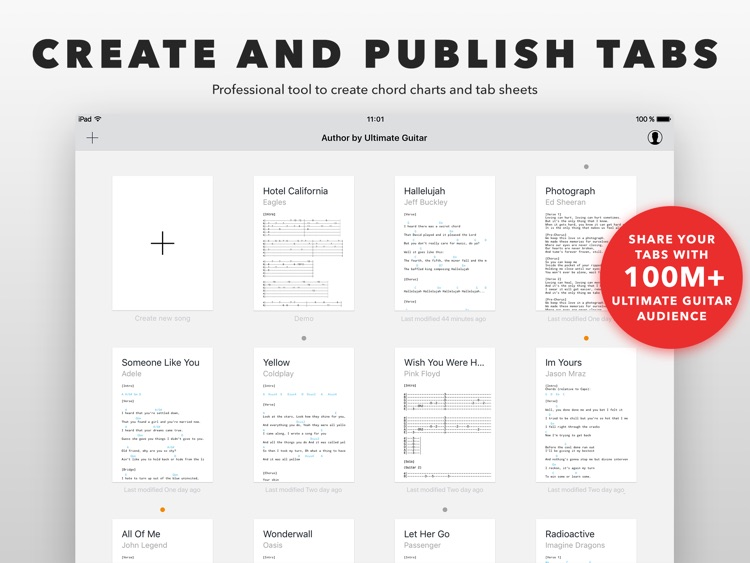 Author - create and edit tabs