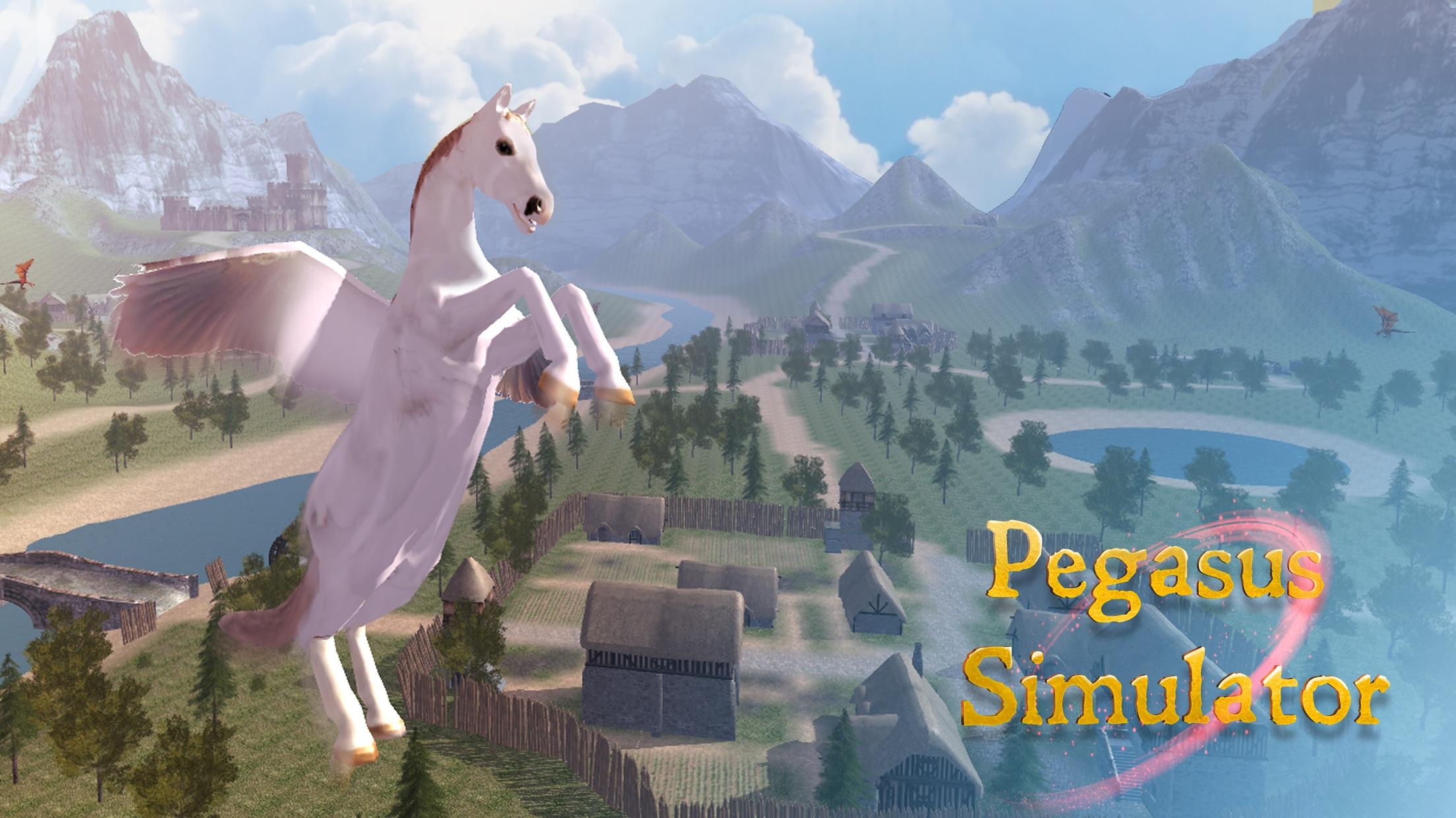 Flying Pegasus: Magic Horse Simulator 3D Screenshot
