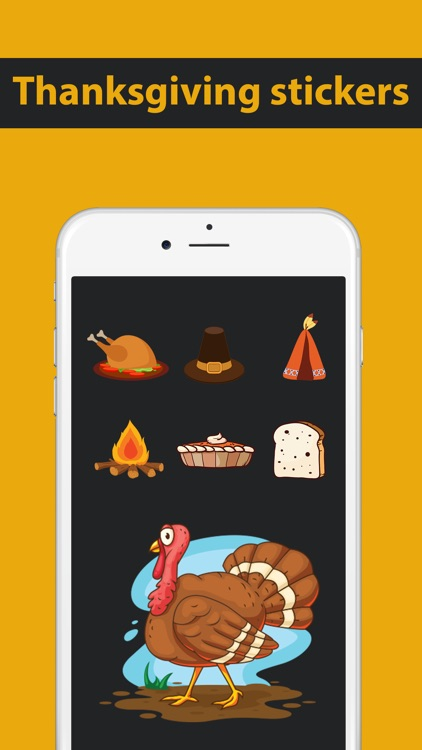 Thanksgiving Holiday Stickers