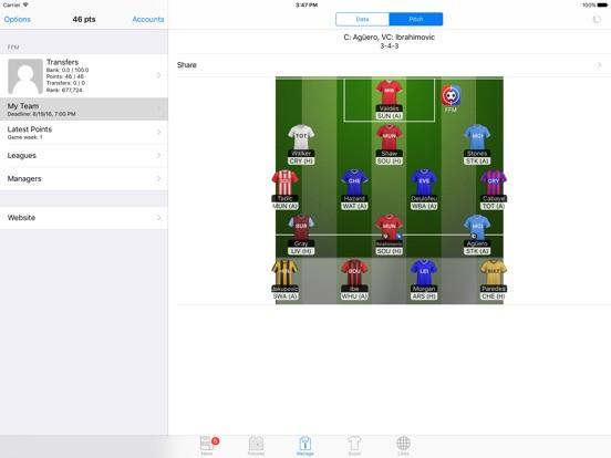 Fantasy Football Manager FPL Screenshots