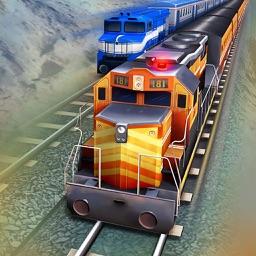 Train Simulator 3D. Uphill Driver Journey In Fun Racing Locomotive