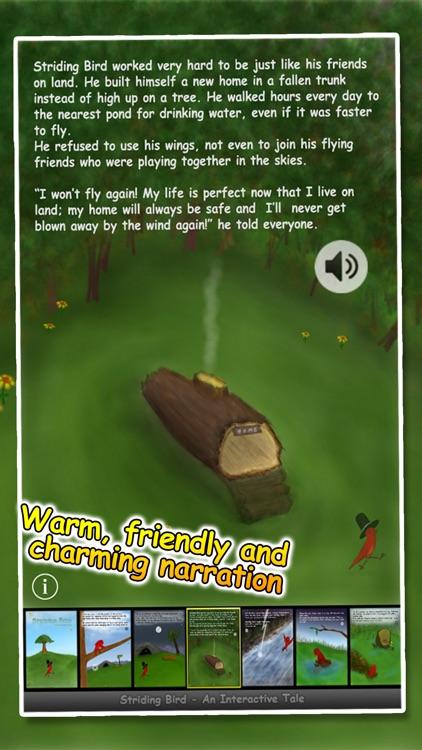 Striding Bird - An inspirational tale for kids screenshot-3