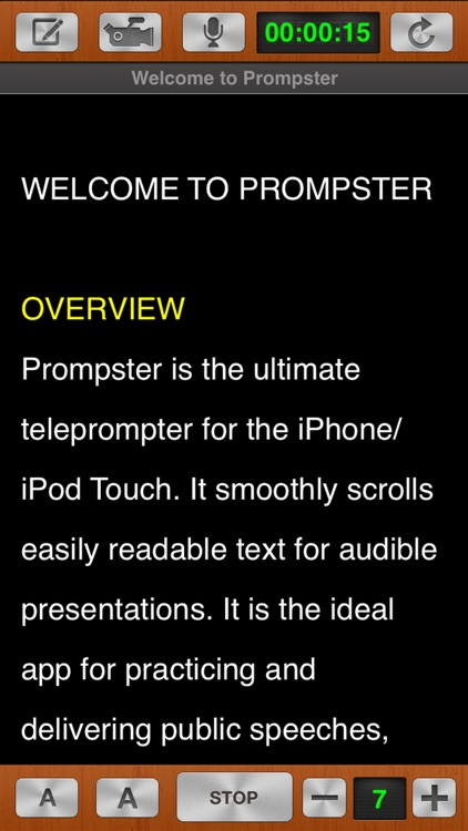 Prompster Pro™ - The Teleprompter screenshot-4