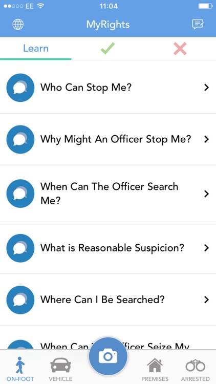 MyRights - Know Your Rights & Rate The Police