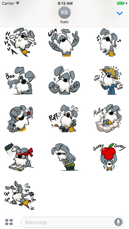 Funny Schnauzer - Cute stickers for iMessage