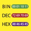 Bin Dec Hex Text Converter with Calculator